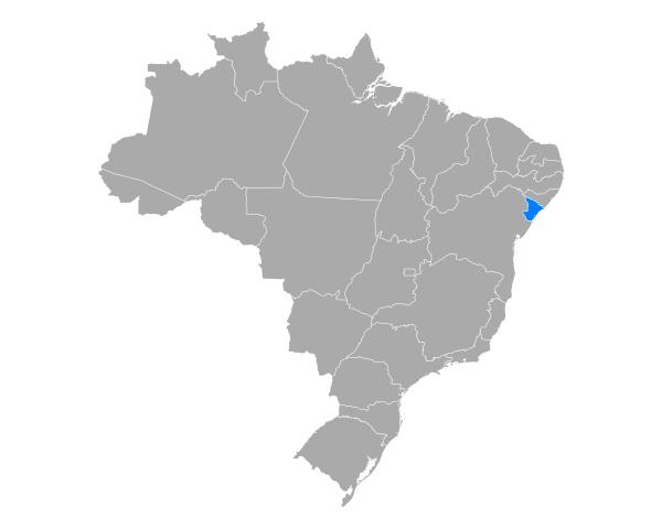 map of sergipe in brazil