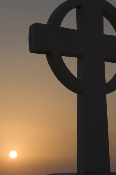 greece santorini thira oia greek cross