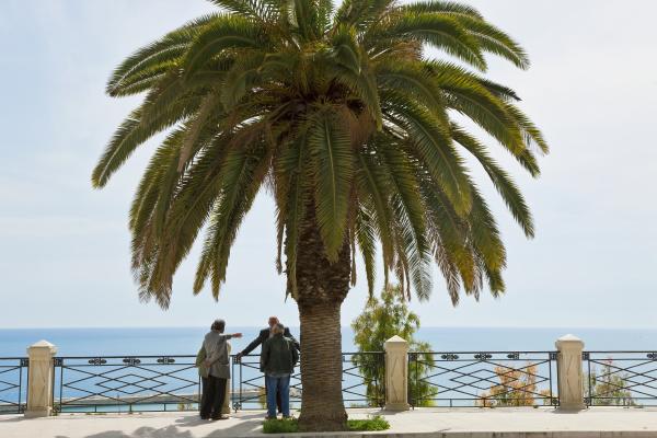 older men on promenade sciacca sicily
