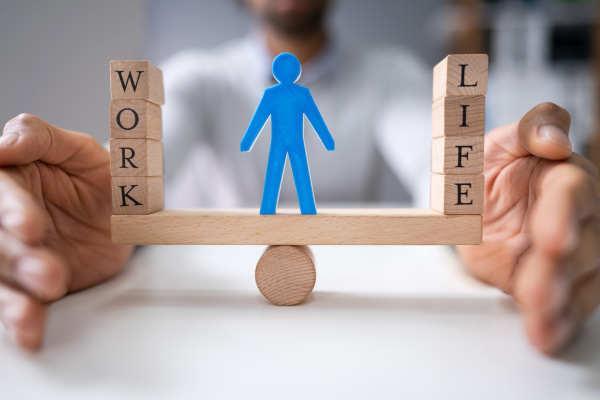 businessperson protecting work and life balance