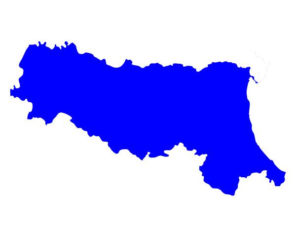 map of emilia romagna