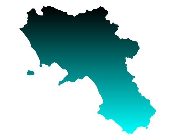 map of campania