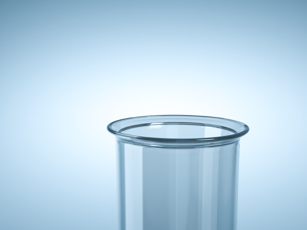 empty laboratory test tube analysis