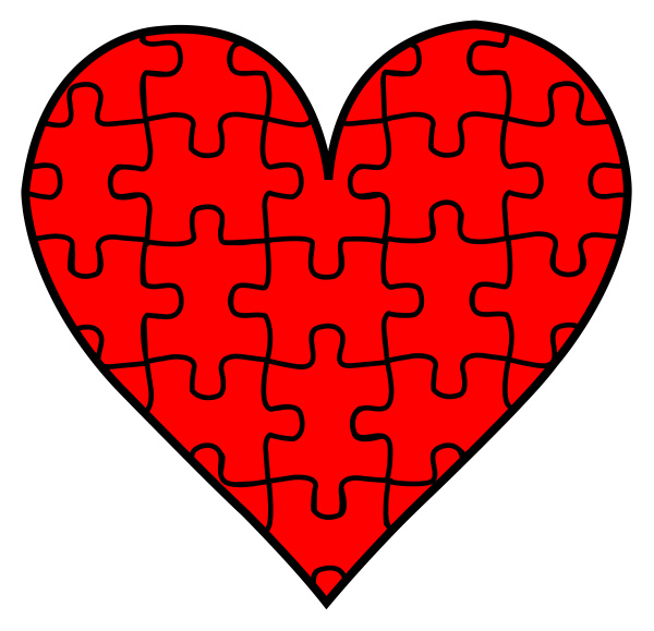 jigsaw piece puzzle game heart