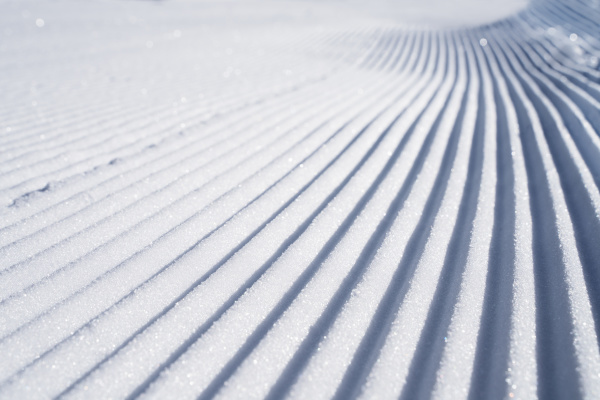 snow lines made from a snow