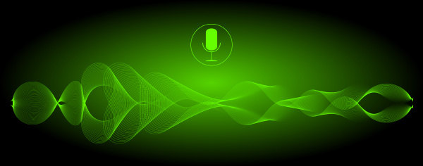 decorative glossy green voice recognition with