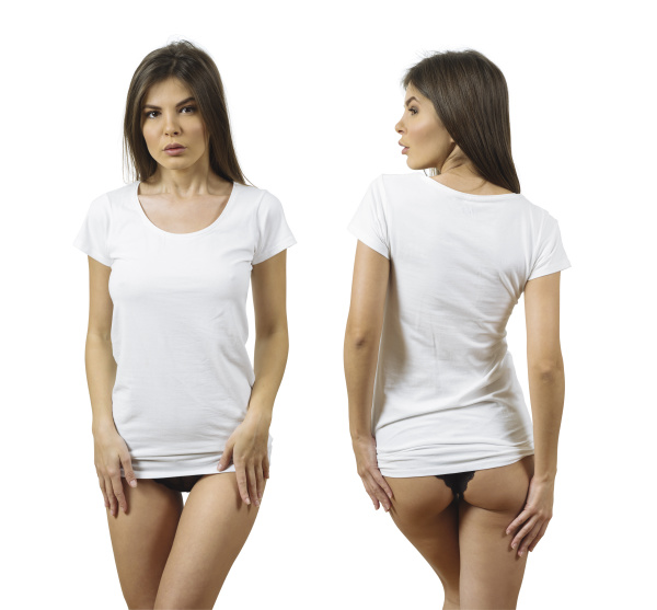 sexy woman with blank white shirt
