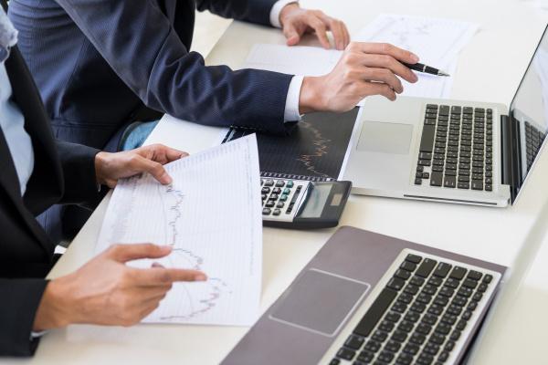 business team trader or broker investment