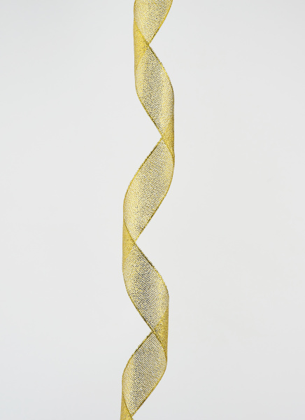 twisted golden silk decorative ribbon for