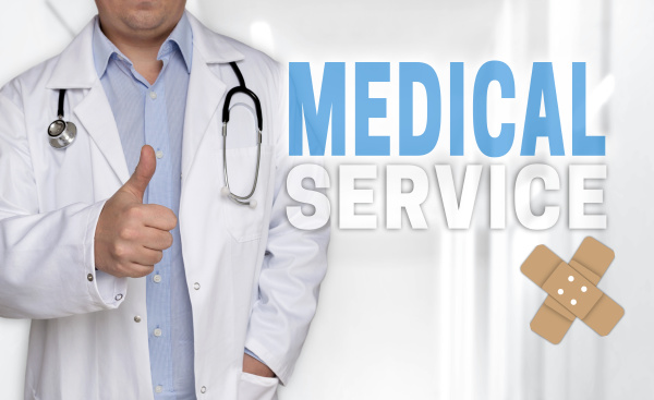 medical service concept and doctor with
