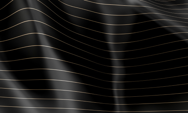 black wave background with horizontal lines