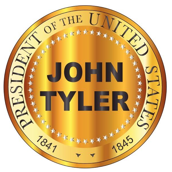 john tyler gold metal stamp