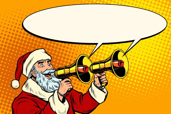 santa, claus, with, a, megaphone., christmas - 27997863