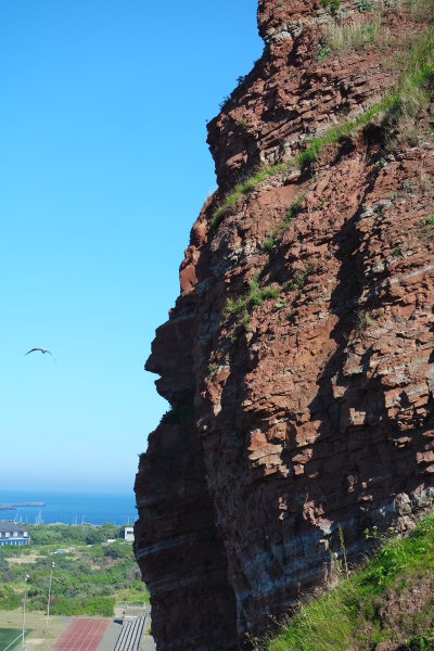 rock cliff on helgoland