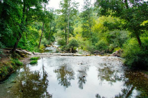 sammaro river near roscigno in campania