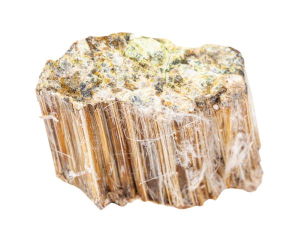rough asbestos rock isolated on white