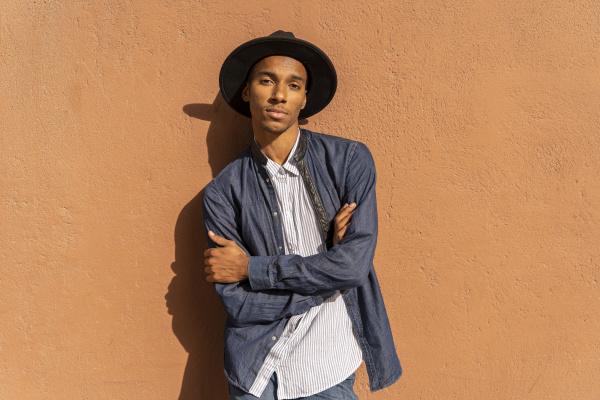 portrait of stylish young man wearing