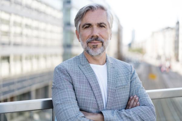 portrait of confident fashionable mature businessman