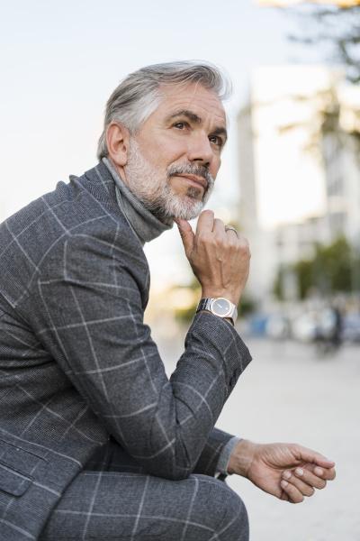portrait of fashionable mature businessman in