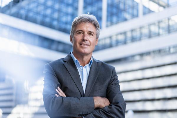 portrait of confident mature businessman in