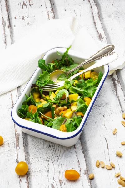 high angle view of vegetable salad