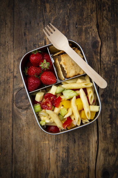 high angle view of lunch box