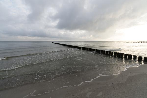 germany zingst sea at sunrise