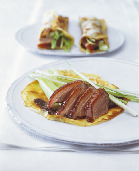 close up of roasted goose breast