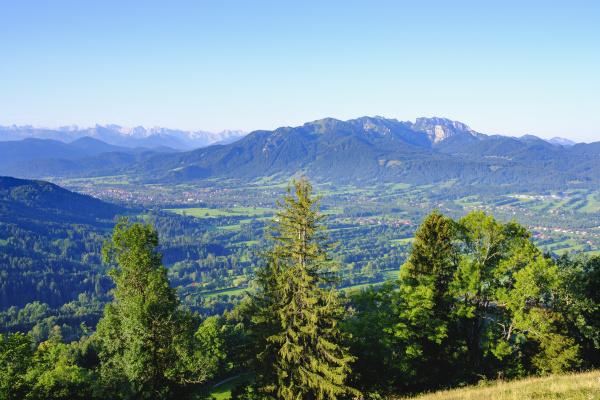 view from sonnatraten at gaissach isartal