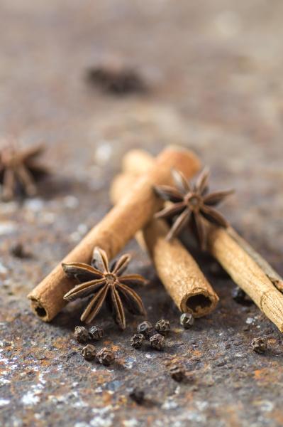cinnamon sticks anise stars and