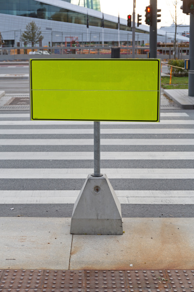 temporary sign post