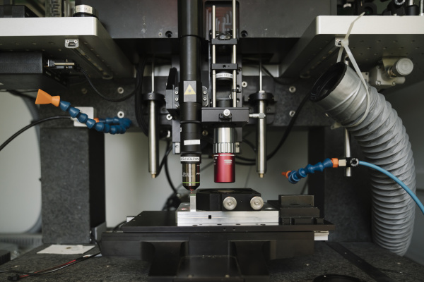 laser device in a laboratory