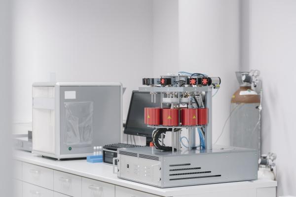 device in a laboratory