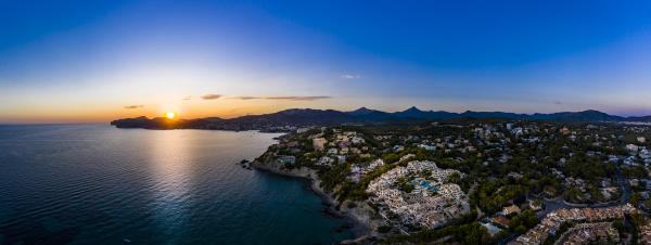 spain mallorca santa ponsa aerial panorama