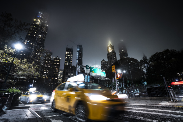 usa new york yellow cab on