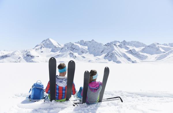 couple of ski tourers having a
