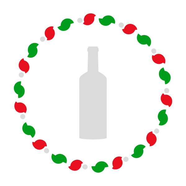 bottle and wreath