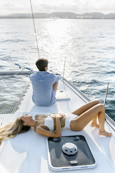 young couple enjoying a summer day