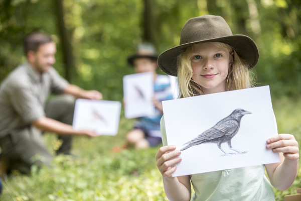 school children learning about animal species