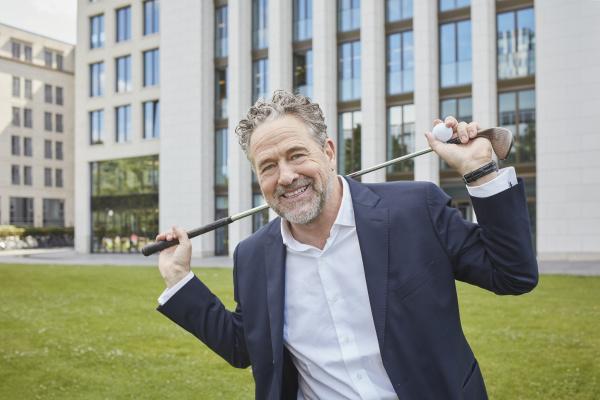 portrait of happy mature businessman with