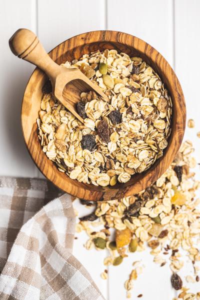 healthy cereal breakfast mixed muesli