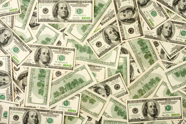 background of 100 banknotes