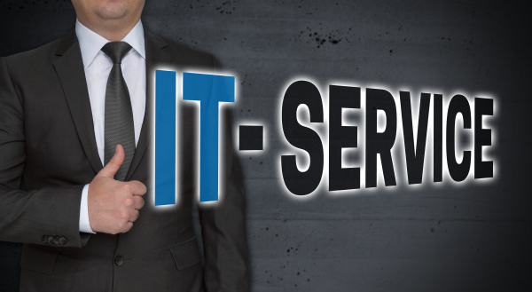 it service concept and businessman with