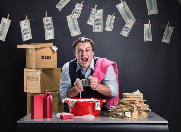businessman is laundering money
