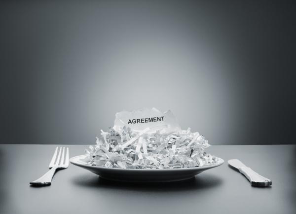 shredded agreement on the plate