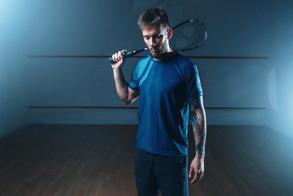 squash, player, with, racket, , indoor - 28076454