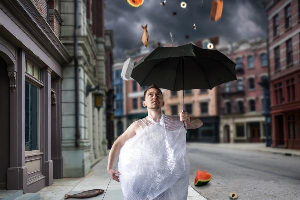 freak, man, walks, with, umbrella, - 28077068