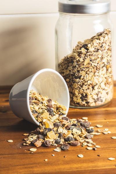 healthy, cereal, breakfast., mixed, muesli. - 28077962