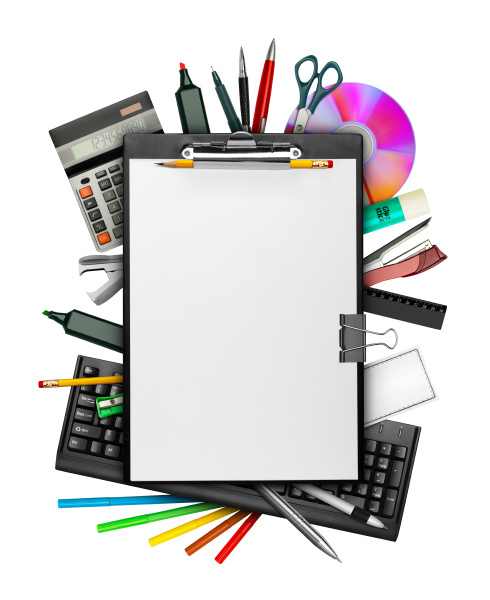 clipboard and stationery