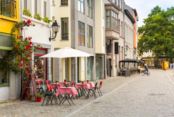 cozy street cafe old european tourist